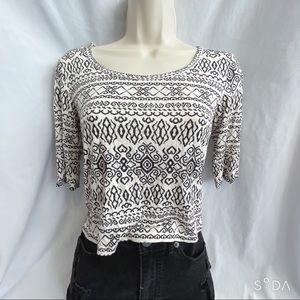 3/4 Sleeve Pattern Top